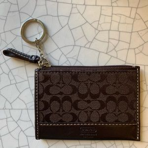 COACH Signature Key Ring Card Case or ID case